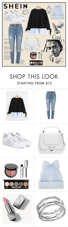 """Tied-Cuff-Pearl-Beading-Ruffle-Hem-Pullover"" by sabina-220416 ❤ liked on Polyvore featuring Whiteley, River Island, adidas Originals, Bobbi Brown Cosmetics, Federica Moretti, Burberry, Links of London and Avenue"