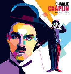 Charlie Chaplin by difrats #art #vector #tracing #chaplin #wpap #popart