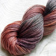 Merino Tencel Hand Dyed Sock Yarn 100g - Copper Beech ~ Wharfedale Woolworks (UK)--Love the color