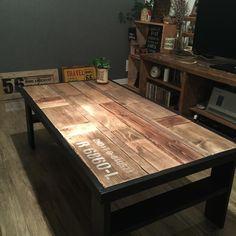 DIYやってると 端材ドンドンたまりませんか?そんな端材を使ってローテーブルを作りました♪ 端材がメイン! ローテーブルDIY(beans)