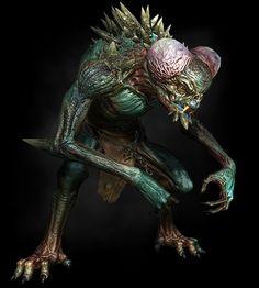 Witcher Monsters, Alien Races, Monster Art, Unique Animals, The Witcher, Fantasy Creatures, Creepy, Weird, Horror