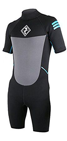 GLIDER Kids Childrens Shorty Wetsuit Boys & Girls (Blue, Age 12)