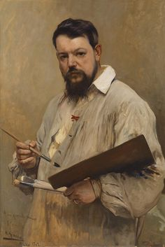 José Jiménez Aranda, Portrait of Joaquín Sorolla y Bastida, 1901 on ArtStack Figure Painting, Painting & Drawing, Spanish Art, Spanish Painters, Paintings I Love, A4 Poster, Vintage Artwork, Renoir, Portrait Art