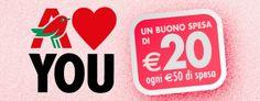#Buonospesa #Auchan da 20 euro in occasione di #SanValentino: una #promozione fantastica!
