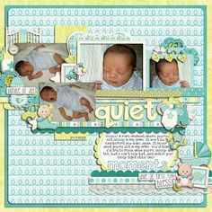 Baby Boy - Lliella Designs Cindy's Layered Templates: Set 102 - Cindy Schneider This Font is Stressed (journaling), This Font is Bold (title...