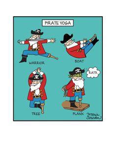 Pirate Yoga Print .. Love this!