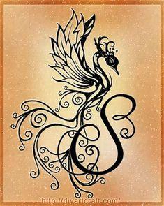 Araba Fenice: Alfabeto tattoo 26 lettere stilizzate rinate dalle ceneri | tattoo diyartcraft