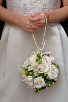 Wedding Pomander Royal Blue And White Flower Kissing Ball Decorations Cas