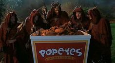 """Popeyes in """"Little Nicky"""" 2000 Little Nicky, I Like Cheese, Popeyes Chicken, Movies Showing, Steampunk, Horror, Cinema, Film, Awesome"""