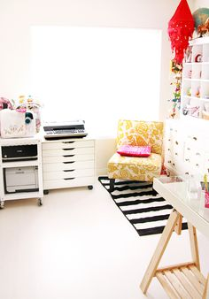 How To Organize Your Crafts Room. I will have a 2 bedroom apartment so I can have a crafy/creative room!