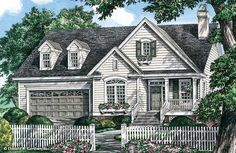 The Tolliver House Plan. Take out dormer windows over garage or make it one larger window