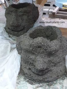 Hypertufa Project - gargoyle, troll, grot planters for your garden