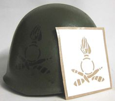 Italian Military field artillery regiment Stencil. This stencil was worn by the famous 8th regiment with and without the number '8' in the circle. You can purchase the number 8 separately. The 8th Regiment fought with honour in Russia in the Stalingrad campaign. This stencil was also used by other field artillery units.  www.warhats.com