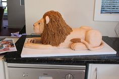 3D Lion cake tutorial 26 by Say it with Cake, via Flickr