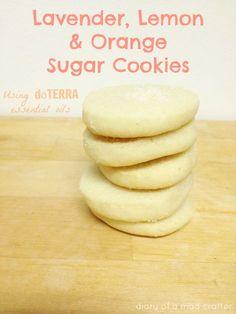 Lemon, Lavendar, & Orange Sugar Cookies Using dōTERRA Essential Oils