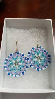 Navajo Design Ethnic And Graphic Long Dangle Earrings Black Neon Pink Gold Miyuki Delica Seed Beadacrame Woven Jewelry Pinterest Micro