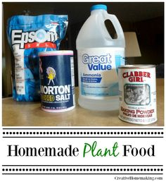 Looking for a way to make your own plant food? Easily make your own inexpensive homemade plant food from these common household products.