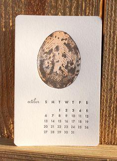 Mink Letterpress egg calendar via DesignWorkLife