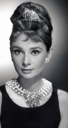 Audrey Hepburn, Breakfast at Tiffany's.                                                                                                                                                                                 More