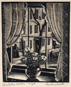 Charles W. Smith (American, 1893-1987) - Charleston Window, c. 1935 - Wood engraving - Indianapolis Museum of Art