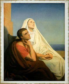 Santa María, Madre de Dios y Madre nuestra: Santa Mónica, 27 de Agosto