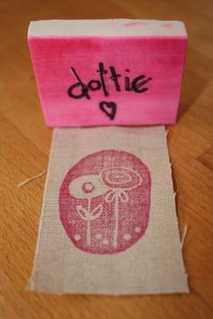 my first carved stamp.....