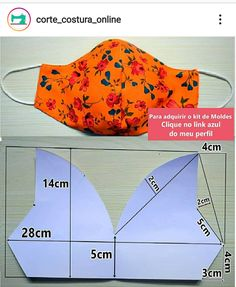 Easy Sewing Projects, Sewing Projects For Beginners, Sewing Crafts, Easy Face Masks, Diy Face Mask, Dress Sewing Patterns, Fabric Patterns, Sewing Clothes, Diy Clothes