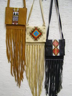 "New Cheap Bags. The location where building and construction meets style, beaded crochet is the act of using beads to decorate crocheted products. ""Crochet"" is derived fro Native American Medicine Bag, Native American Cherokee, Cherokee Nation, Native Beadwork, Native American Beadwork, Indian Beadwork, Small Leather Bag, Leather Pouch, Beaded Purses"