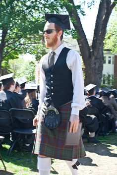 Men with kilts are never too cool for school. | 14 Photos That Prove Real Men Wear Kilts