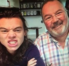 Harry and Robin // leaked photo from Anne's (Harry's mum) iCloud