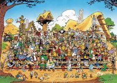 Puzzle Asterix et Obélix : Photo de famille Ravensburger : Dessin animé & Cartoon