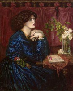 Dante Gabriel Rossetti, Mrs. William Morris (The Blue Silk Dress), 1868