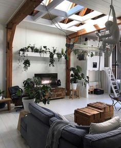 Shop the look: de urban jungle van Jellina Detmar - Dream Home Design, House Design, Deco Jungle, Interior And Exterior, Interior Design, Kitchen Interior, Living Room Goals, Eclectic Decor, Beautiful Space