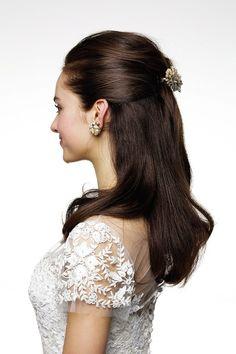 バレッタを使ったお嬢様風ダウンヘア ■Side Style