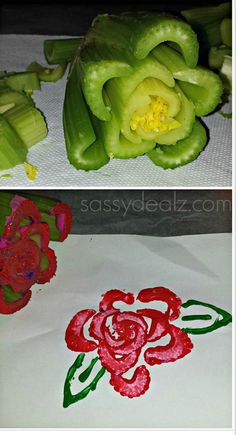 We loved this @Crafty_Morning  Rose Stamping activity so much we featured it on Kawartha Lakes Mums: Kawartha Lakes #Arts: Beauty and The Beast Teaching Links