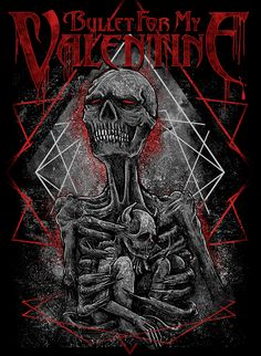 Brand new licensed poster flags, iron-on patches, vinyl stickers and concert t-shirts featuring your favorite rock, punk and heavy metal bands. Bullet For My Valentine, My Valentine Lyrics, Valentine Poster, Band T Shirts, Metal Band Logos, Metal Bands, Music Artwork, Metal Artwork, Rock Posters