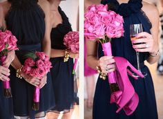 Love the shoes!!!! navy hot pink and silver wedding ideas - Google Search
