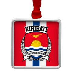 Shop Kiribati Metal Ornament created by FLAGSKDR. Kiribati Flag, Political Events, Activity Games, Holiday Festival, Baby Shower Games, Flags, Are You The One, Art For Kids, Wedding Gifts