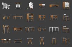 Modelos 3D Gratis XCIV | Colección de Mobiliario - ejeZeta
