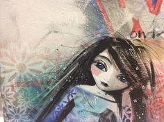 #zeichnen #malen #mixed-media #collage mit #kreiden, #kreidestiften, #lackmarkern, #acrylmarkern und #acrylfarben