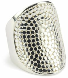 """Anna Beck Designs """"Bali"""" Saddle Sterling Silver Ring, Size 7 Anna Beck Designs. $230.00. Made in Indonesia. Store in jewelry box or bag when not in use. For jewelry longevity avoid contact with soap, perfume or lotion Made in ID. For jewelry longevity avoid contact with soap, perfume or lotion"""