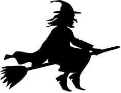 Halloween witch, you can blow up this silhouette and place it in your window! Halloween Cards, Halloween Themes, Fall Halloween, Halloween Stencils, Halloween Clipart, Origin Of Halloween, Postres Halloween, Hallowen Ideas, Manualidades Halloween