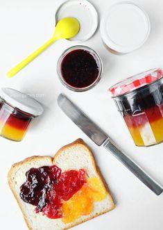 Rezept | EM Marmelade | Pfirsich Erdbeere Heidelbeere | Schichtmarmelade | WM Marmelade | schwarz rot gold | Deutschland Marmelade | waseigenes.com