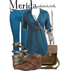 """Merida (Brave)"" by pickedadaytofly on Polyvore"