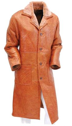 en's classy genuine sheepskin fur lined, button down trench coat. Nothing warmer than this ultimate all leather garment. Mens Travel Bag, Duffle Bag Travel, Duffle Bags, Travel Bags, Long Jackets, Long Coats, Trench Coat Men, Leather Briefcase, Men's Leather