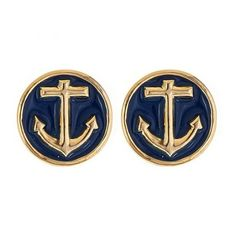 ANCHOR EARRINGS ❤ liked on Polyvore