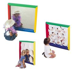 Set of 3 Shatter Resistant Square Padded Mirrors