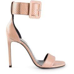 SAINT LAURENT 'Jane' sandals (18.354.100 IDR) ❤ liked on Polyvore featuring shoes, sandals, heels, saint laurent, ankle strap stiletto sandal, stiletto sandals, stilettos shoes, ankle wrap sandals and snakeskin shoes