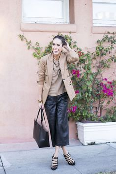 How To Style Culottes | Day To Night Workwear | Styling tips by Louise Roe