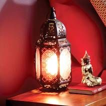 Add a subtle glow to your living space with our stylish Moroccan inspired table lamp. Featuring a traditional Marrakech design with striking red windows and a black exterior, it will create a romantic feel in any room in your home. Table Lamps For Bedroom, Black Table Lamps, Bedside Table Lamps, Desk Light, Light Table, Red Windows, Moroccan Table, Xmax, Modern Retro